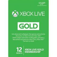 XBox Live Cards - Microsoft Live 12 Months