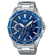 Casio - Diver Analog Watch Slvr Blue