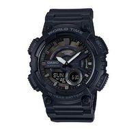 Casio - Aeq110w 1bv Blk Ana Digi Watch