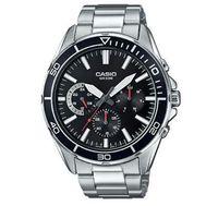 Casio - Diver Analog Watch Slvr Blk