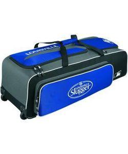Louisville Slugger Carrying Case (Roller) Gear, Helmet, Glove, Baseball Bat, Shoes, Baseball, Equipment - Royal