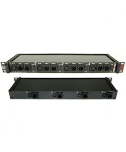 RAPCO MS43A 4 Channel (3 Way) Rack Mount Mic Splitter