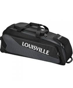 Louisville Slugger Prime Carrying Case (Roller) Gear, Bat, Shoes, Accessories, Bottle, Baseball - Black, Charcoal